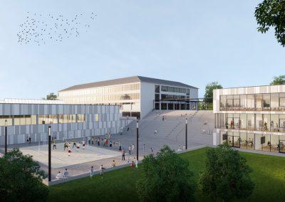 St.-Willibrord-Gymnasium Bitburg Mensa und Sporthalle