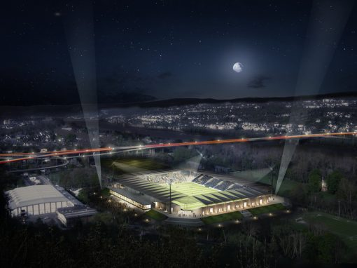 """<span class=""""under"""">Stadion Koblenz-Oberwerth</span><br> Studie"""