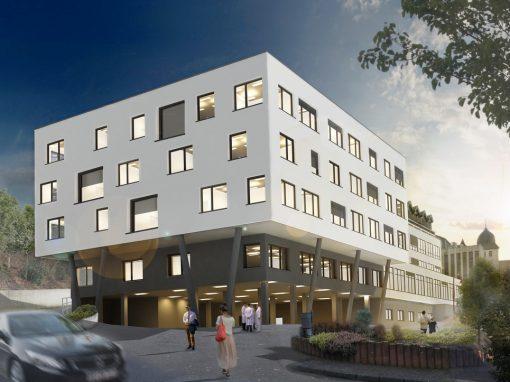 "<span class=""under"">Krankenhaus Maria-Hilf, Daun</span><br> Erweiterung Bauteil B"