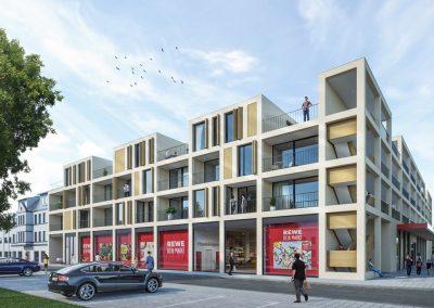 REWE-Markt mit Wohnungen, Leverkusen Studie