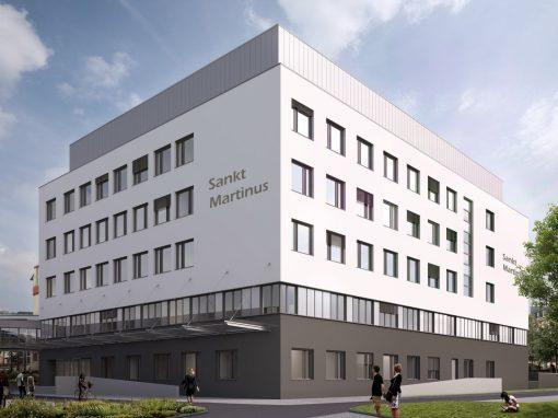 "<span class=""under"">Brüderkrankenhaus Trier</span><br> Neubau St. Martinus"
