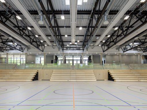 """<span class=""""under"""">Mehrzweckhalle Mäusheckerweg Trier</span><br> Neubau"""